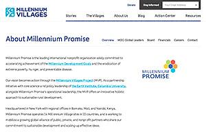ミレニアムプロミスのWebサイト