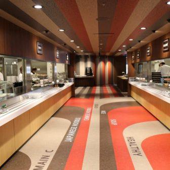 日立製作所が社食革命と銘打って行なったリニューアル後の社員食堂。